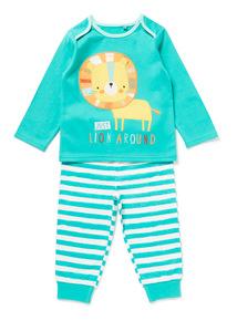 Green Snap Happy Pyjamas (0-24 months)