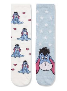 2 Pack Disney Eeyore Socks