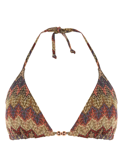 806b4d57b4 Womens Brown Patterned Triangle Bikini Top | Tu clothing