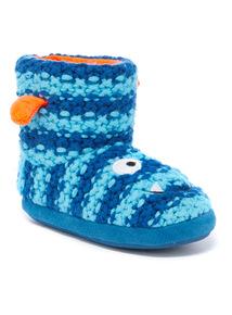 Knitted Monster Slipper Boots