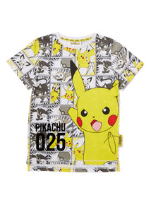 Multicoloured Pokemon Print T-Shirt (3-12 years)