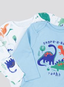 Multicoloured Dinosaur Pyjamas 2 Pack (0 - 24 Months)
