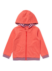 Red Stripe Trim Zip-Through Hoody (0-24 months)