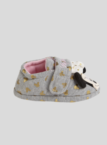 Grey Minnie Mouse Slippers (4 Infant-13 Infant)