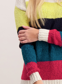 Multicoloured Block Stripe Jumper
