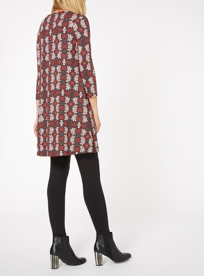 Multicoloured Urban Floral Ditsy Tunic