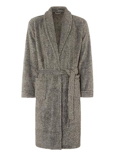 Mens Grey Marl Dressing Gown | Tu clothing