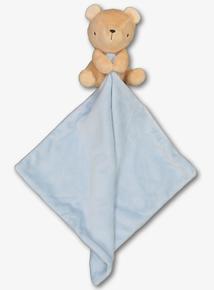 Blue & Beige Bear Comforter (One Size)