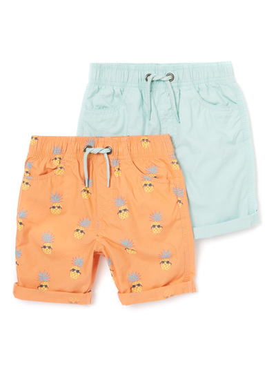 2 Pack Multicoloured Shorts (9 months-6 years)
