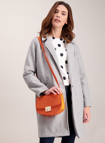 Orange Cross Body Saddle Bag
