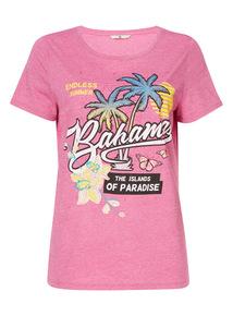 Pink Bahamas Print T-Shirt