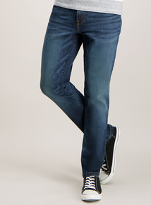 Blue Mid Wash Stretch Denim Skinny Jeans