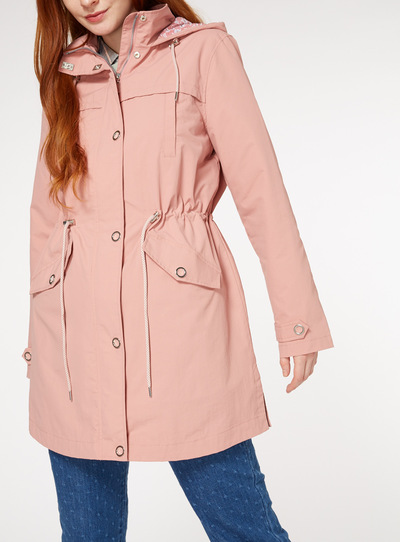Pink Jersey Lined Parka