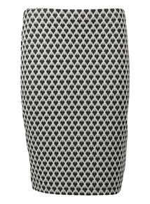 Monochrome Heart Jacquard Skirt
