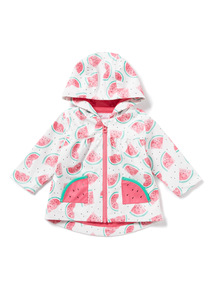 Pink Watermelon Rain Coat (0-24 months)