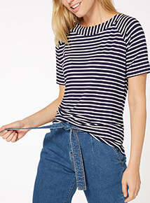 Stripe Bardot Top