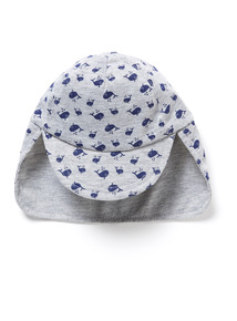 Grey Whale Printed Sunhat (0-24 months)