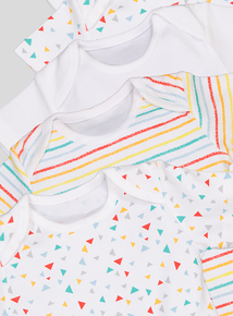 5 Pack Multicoloured Short Sleeve Bodysuits (Newborn -24 months)