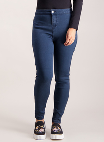 PETITE Dark Denim High Waist Skinny Jeans