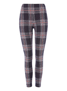 Multicoloured Check Leggings