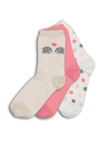 Multicoloured Patterned Socks 3 Pack