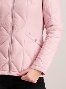 Pink Padded Feather & Down 3 Tog Jacket