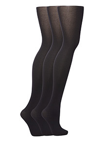 Black Opaque Tights 3 Pack
