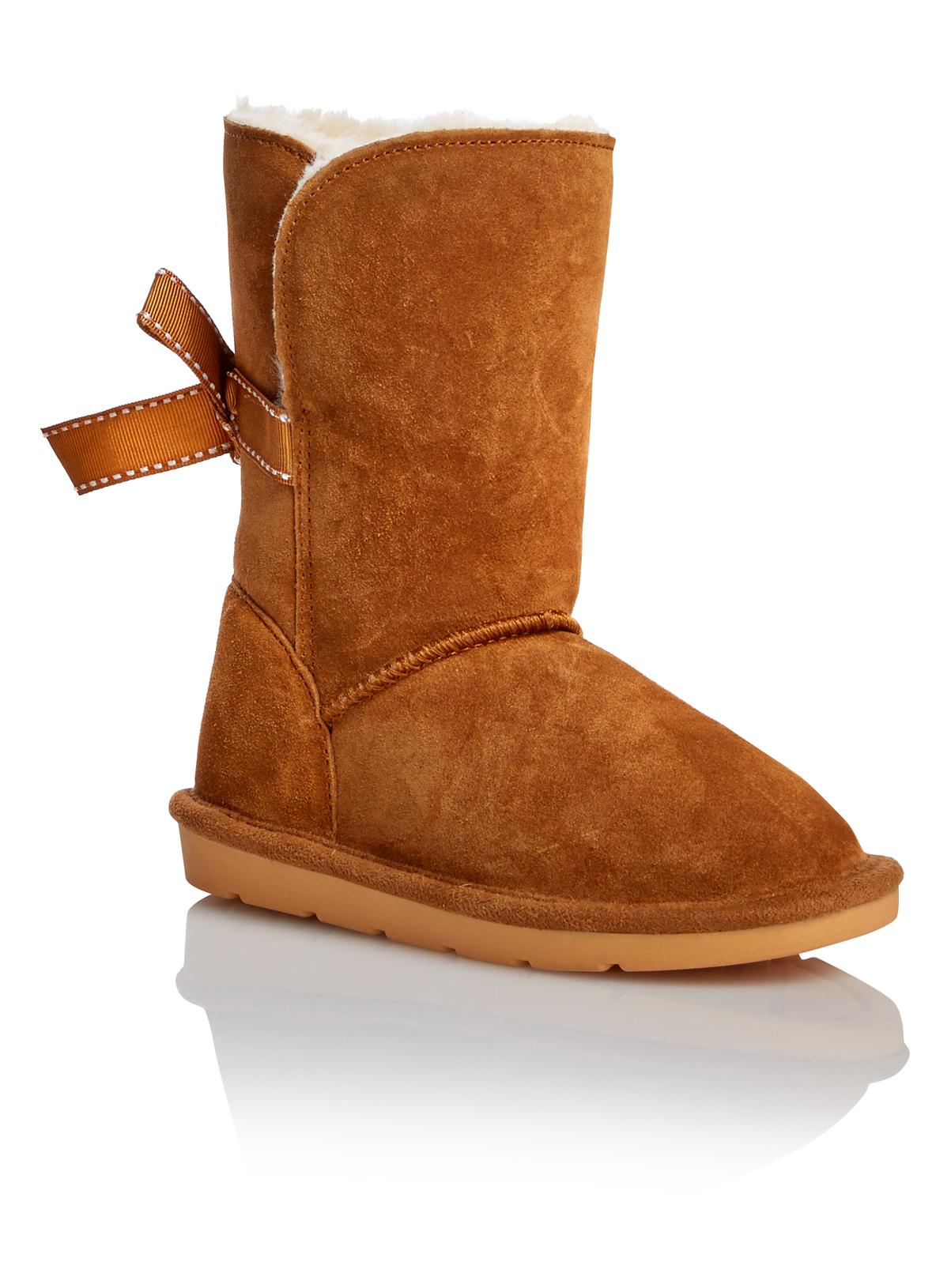 All Girl's Clothing Girls Tan Fur Boots | Tu clothing