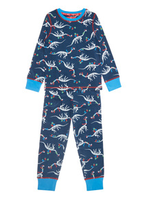 Blue Santa Dino Pyjama Set (1-10 years)