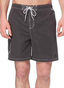 Grey Plain Swim Shorts