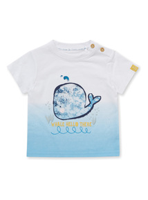 Blue Ombre Whale T-Shirt (0-24 months)