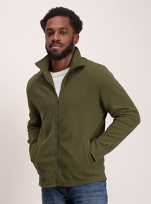 Khaki Zip Through Fleece