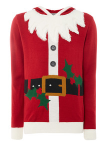 Red Christmas Santa Outfit Jumper