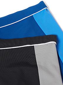2 Pack Multicoloured Swim Shorts (3-12 years)