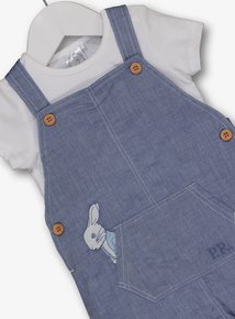 fd2f2624d Peter Rabbit Blue Bib Shorts & Bodysuit Set (0 - 24 months)