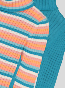 Multicoloured Ribbed Roll Neck Long-Sleeved Jumper 2 Pack (9 Months - 6 Years)
