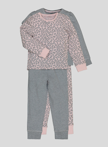 Pink Animal Print Pyjamas 2 Pack (18 Months - 12 Years)