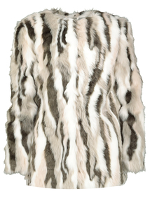 Monochrome Faux Fur Jacket