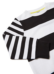 Monochrome Striped Crew Neck Sweatshirt (9 months- 6 years)