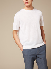 Premium White Textured T-Shirt