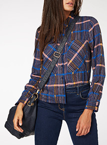 Cropped Check Shirt