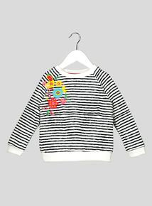 Multicoloured Stripe Floral Sweatshirt (9 months-6 years)