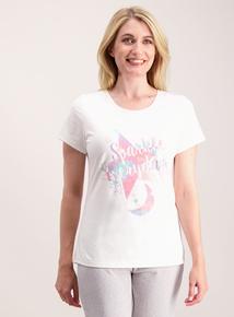 Cream 'Sparkle Everyday' Pyjama Top