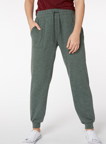Dark Green Patch Pocket Joggers