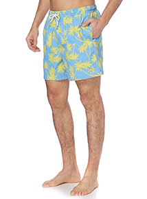 Blue Palm Tree Swim Shorts