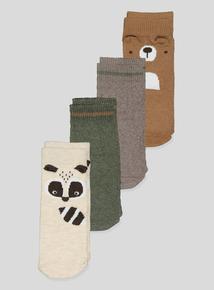 Multicoloured Novelty Animal Socks 4 Pack (1 - 24 Months)