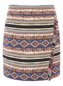 Aztec Print Jacquard Skirt