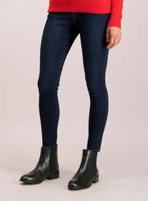 Dark Blue Denim Skinny Stretch Jeans