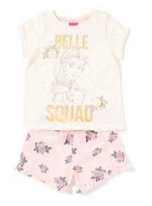 White Disney Belle Pyjama Set (3-14 years)