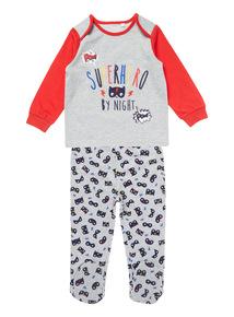 Grey Superhero Pyjama Set (0-24 months)